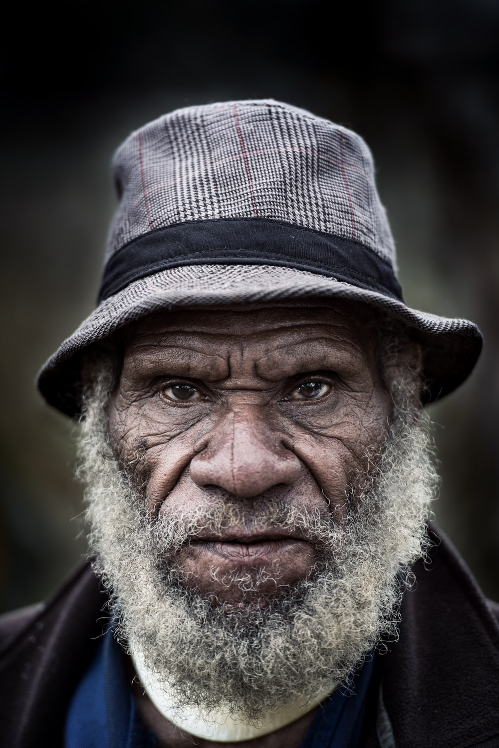 selective focus photography of bearded man