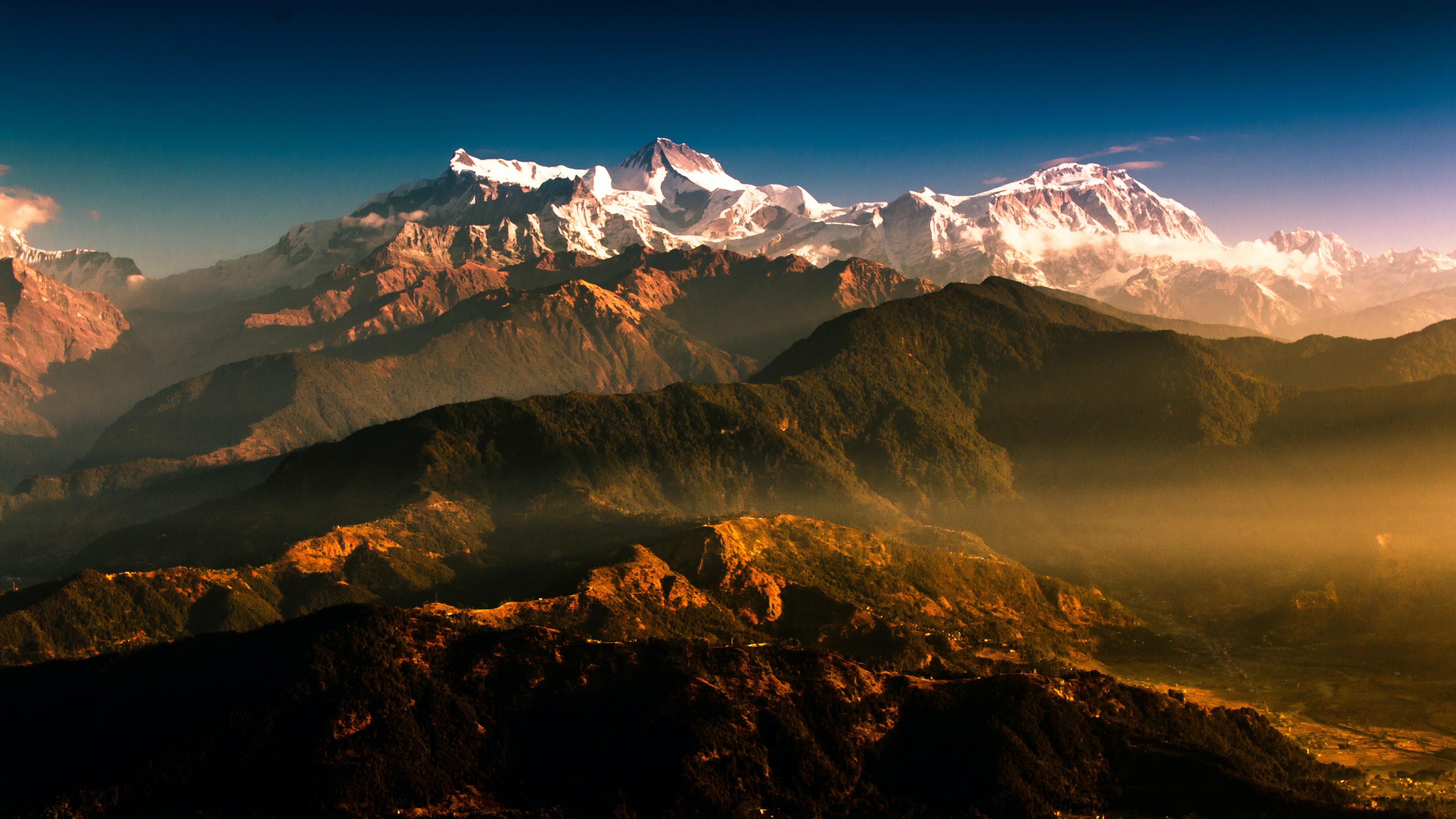 wide angle photo of mountain terrain