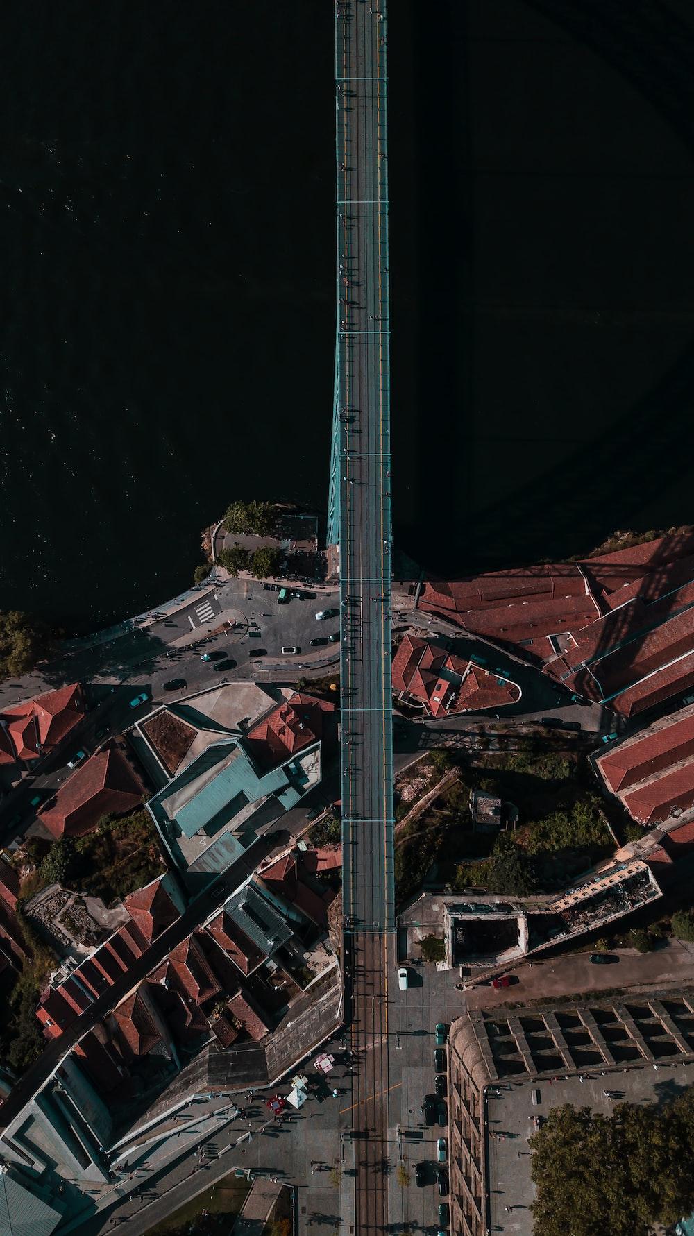 aerial photo of bridge