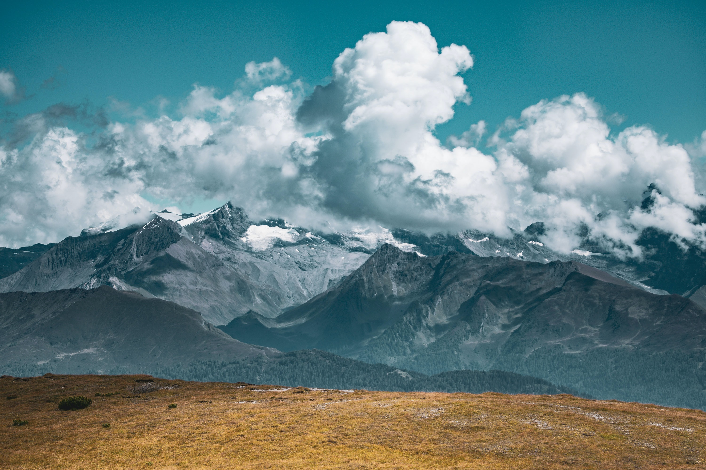 cloud formation over mountains