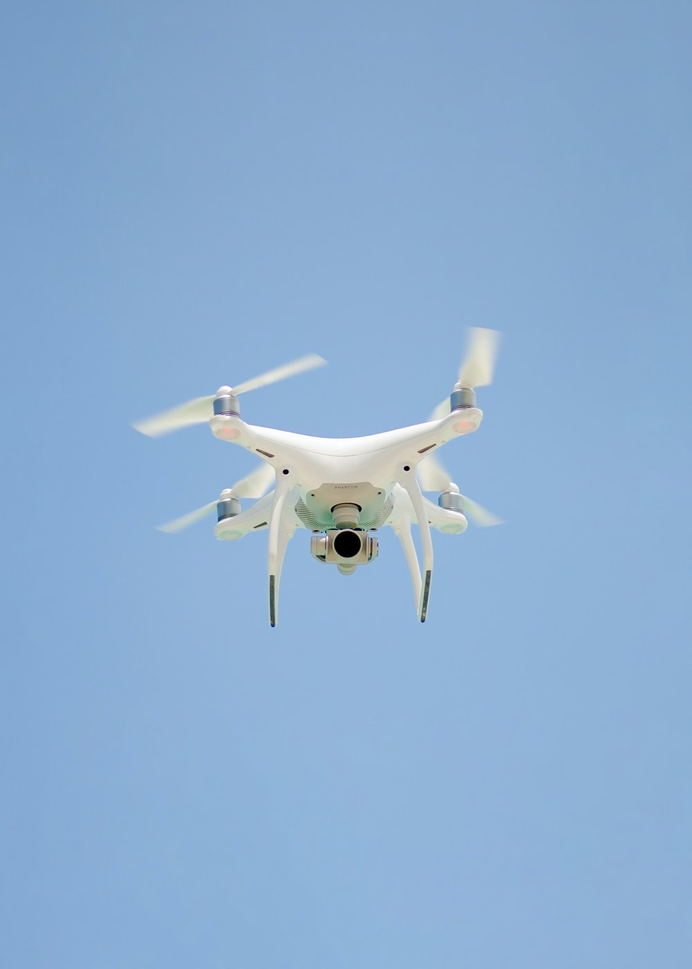 drone flying on air