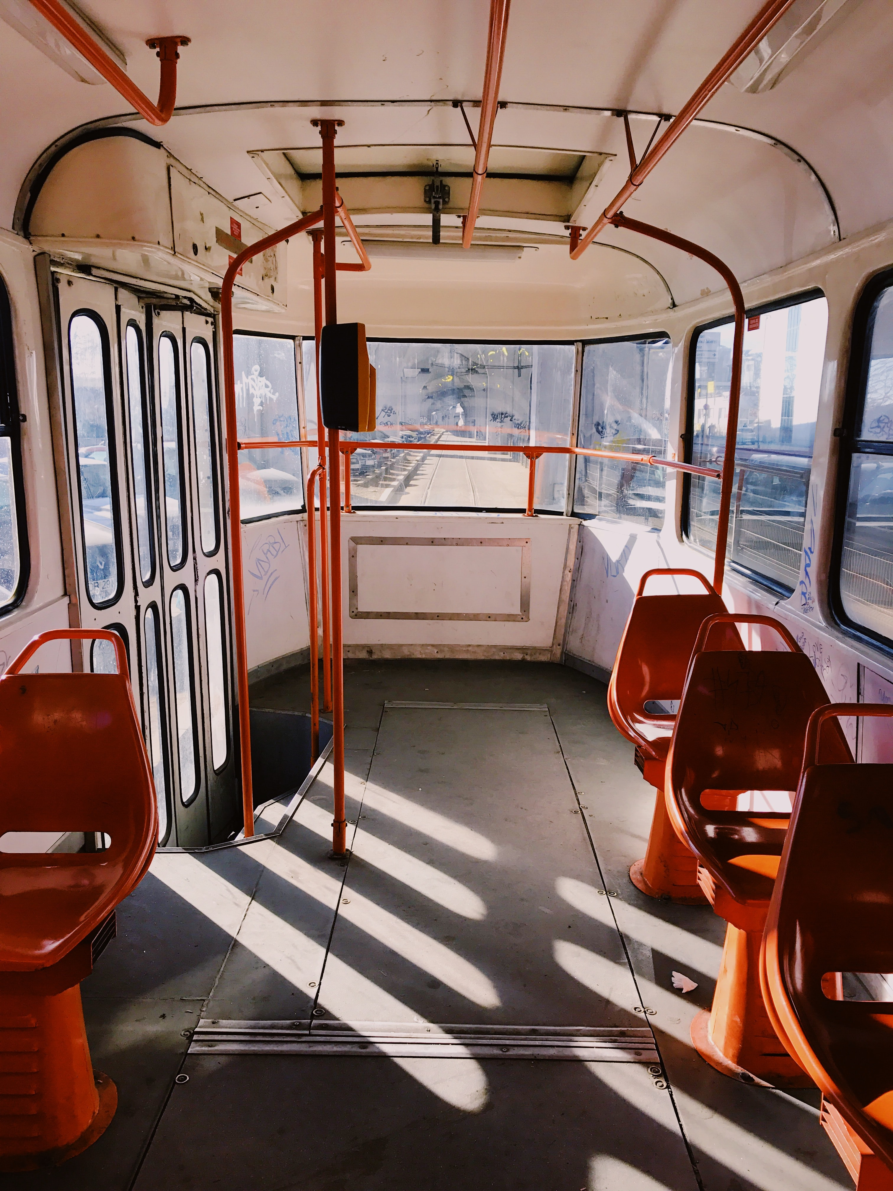 red train chairs
