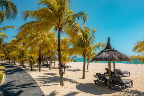 Beach holiday in Mauritius