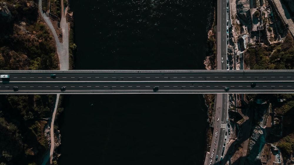 concrete bridge connecting two islands