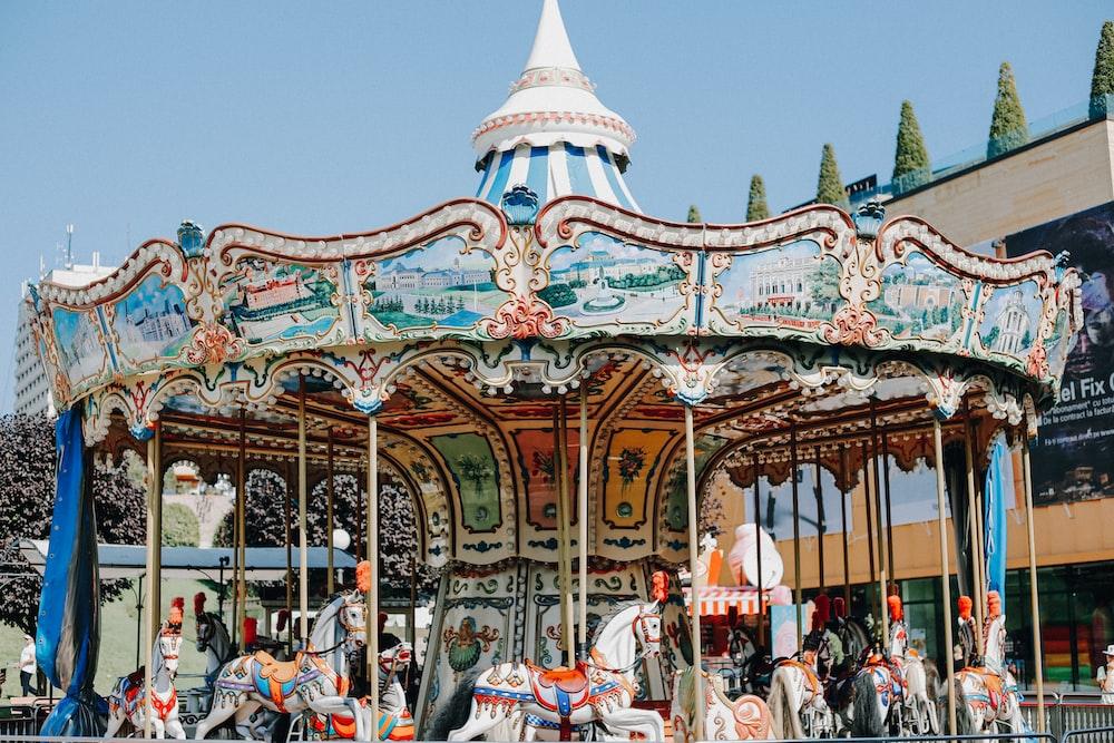 photo of horse carousel