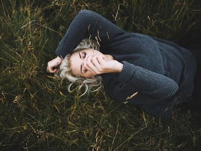 woman wearing sweater