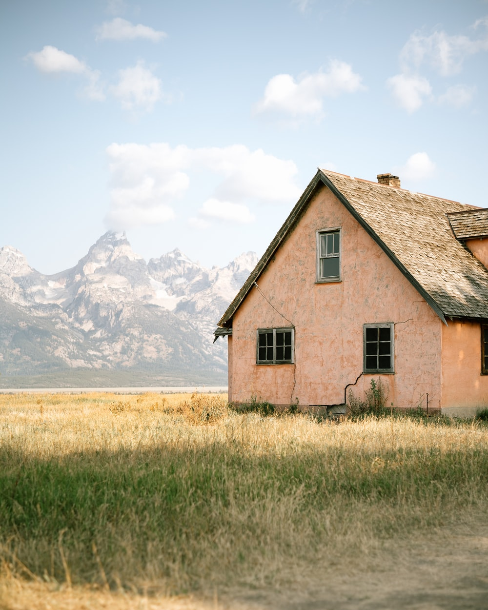 house surrounded with grass