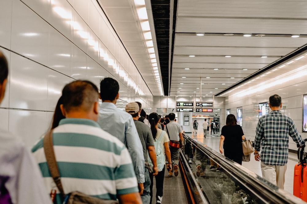 people walking on mall