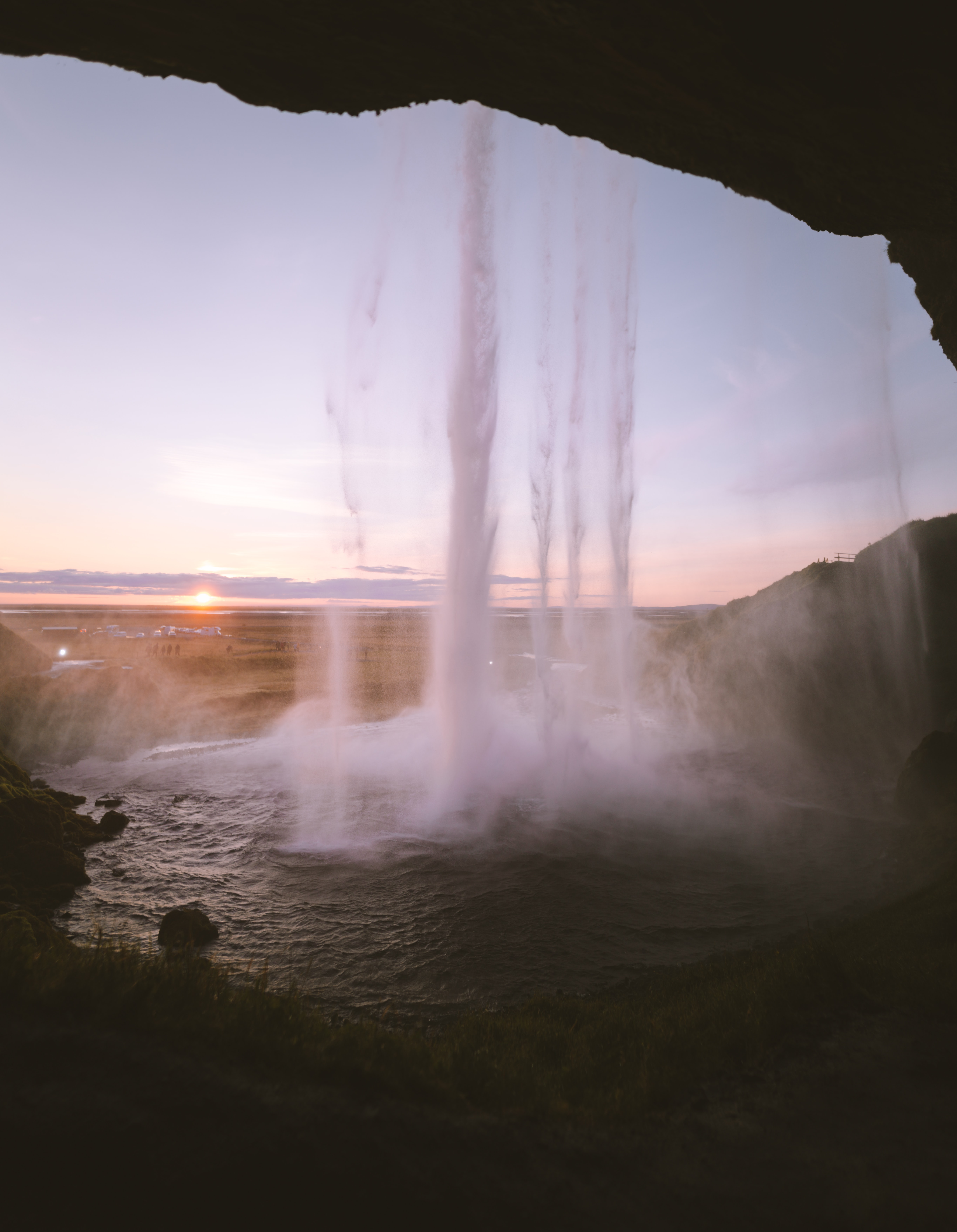time-lapse photo of waterfalls