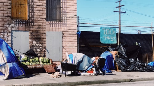 California's growing homeless problem.