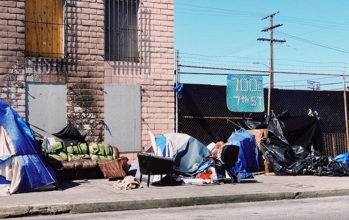 California's growing homeless problem.