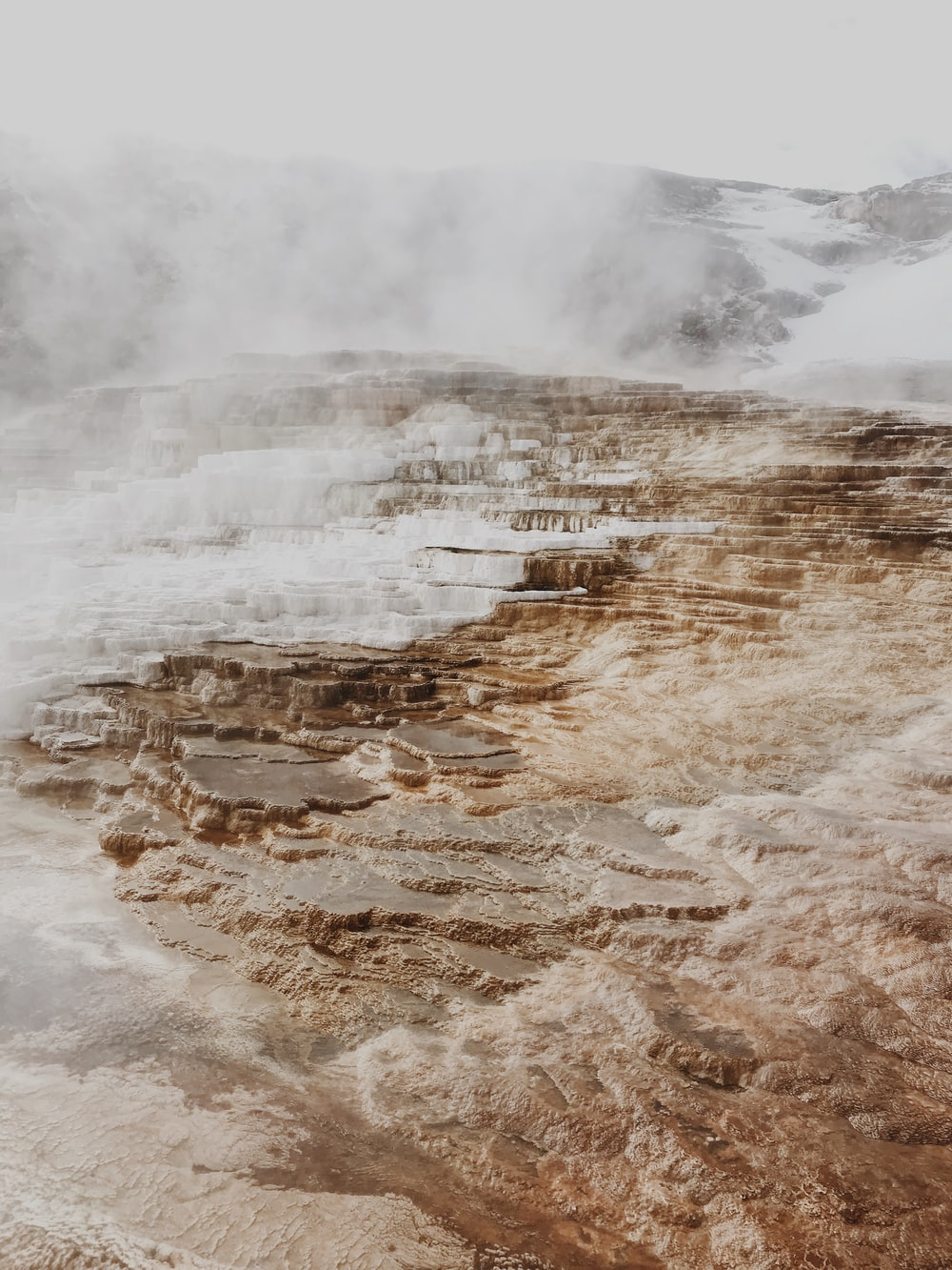 geyser with rock formation