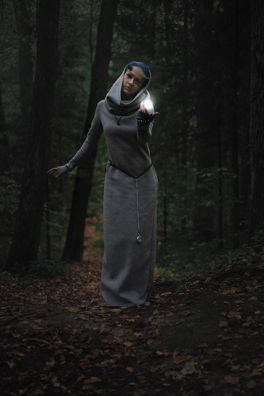 woman wearing long dress