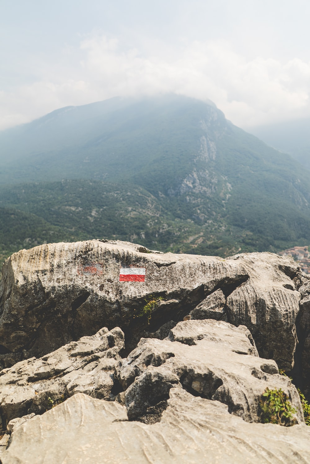 high-angle view of mountains