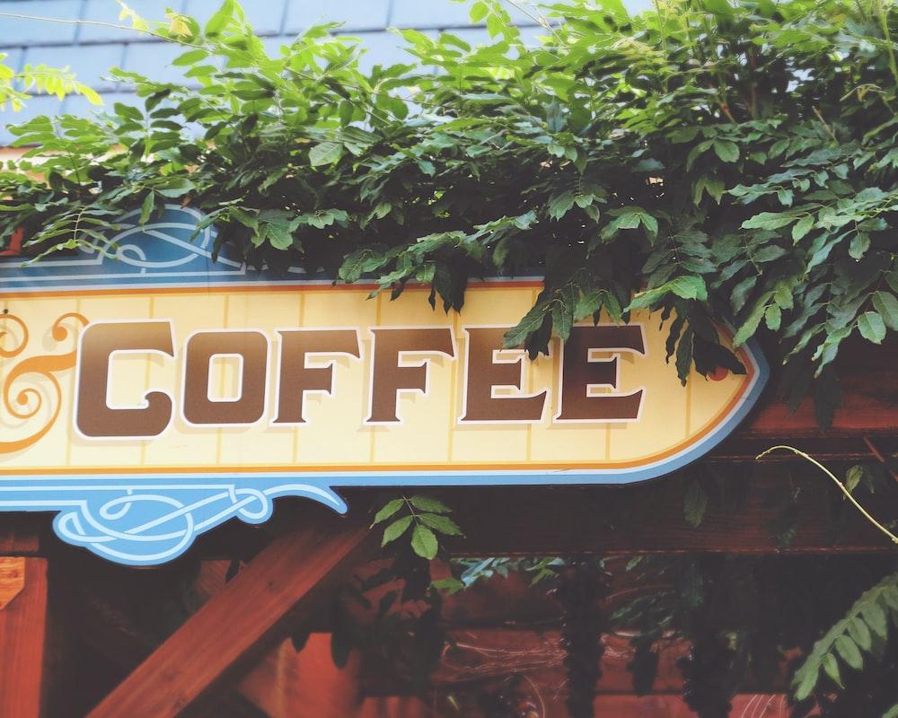 yellow Coffee signage