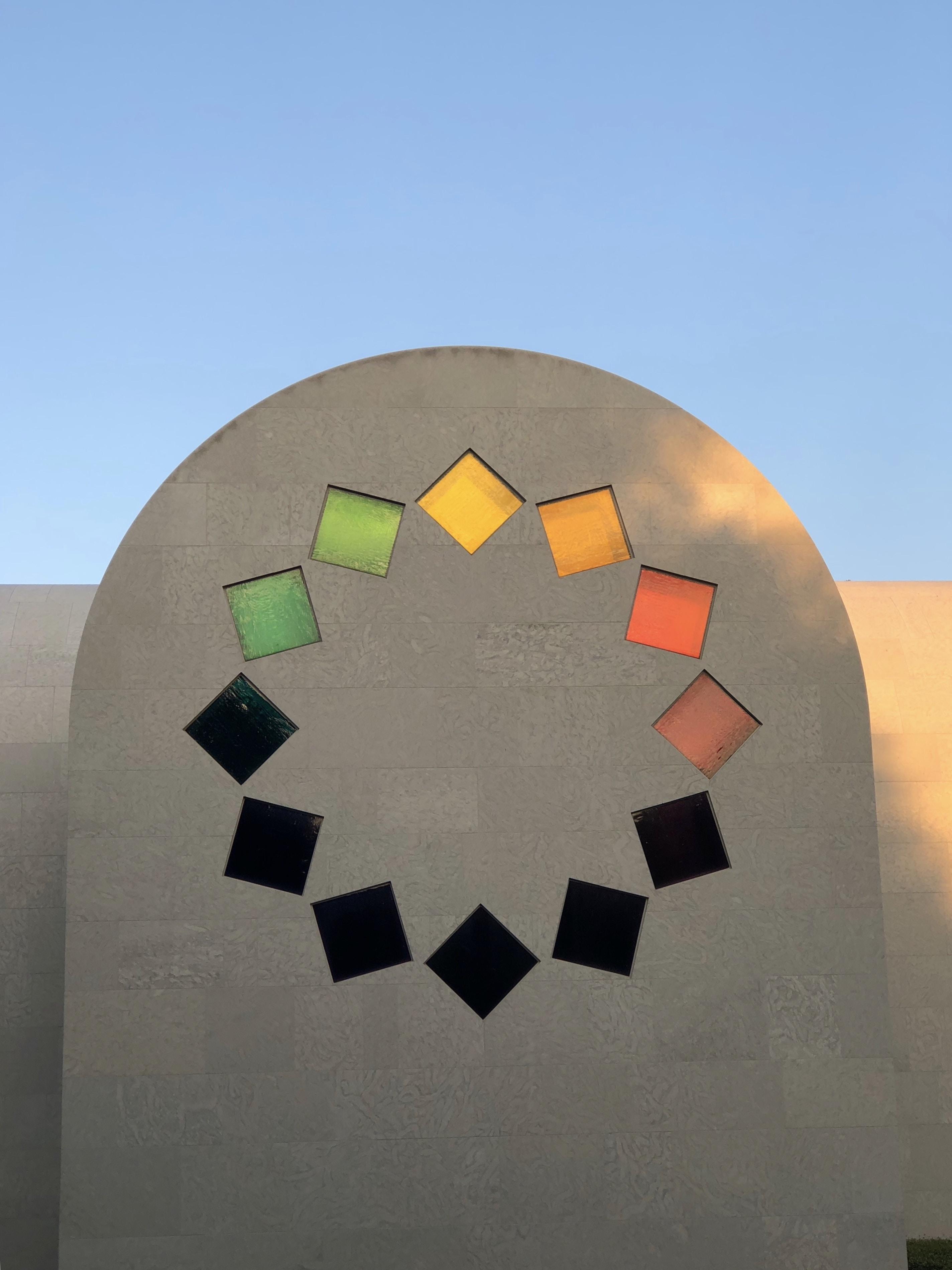 multicolored wall decor