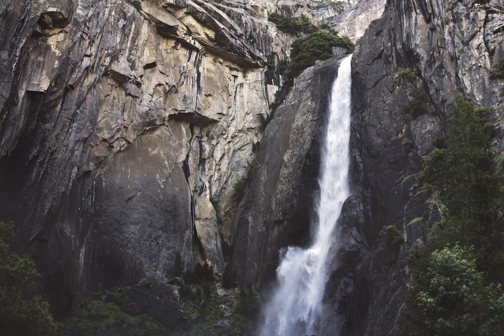 waterfalls low angle photography
