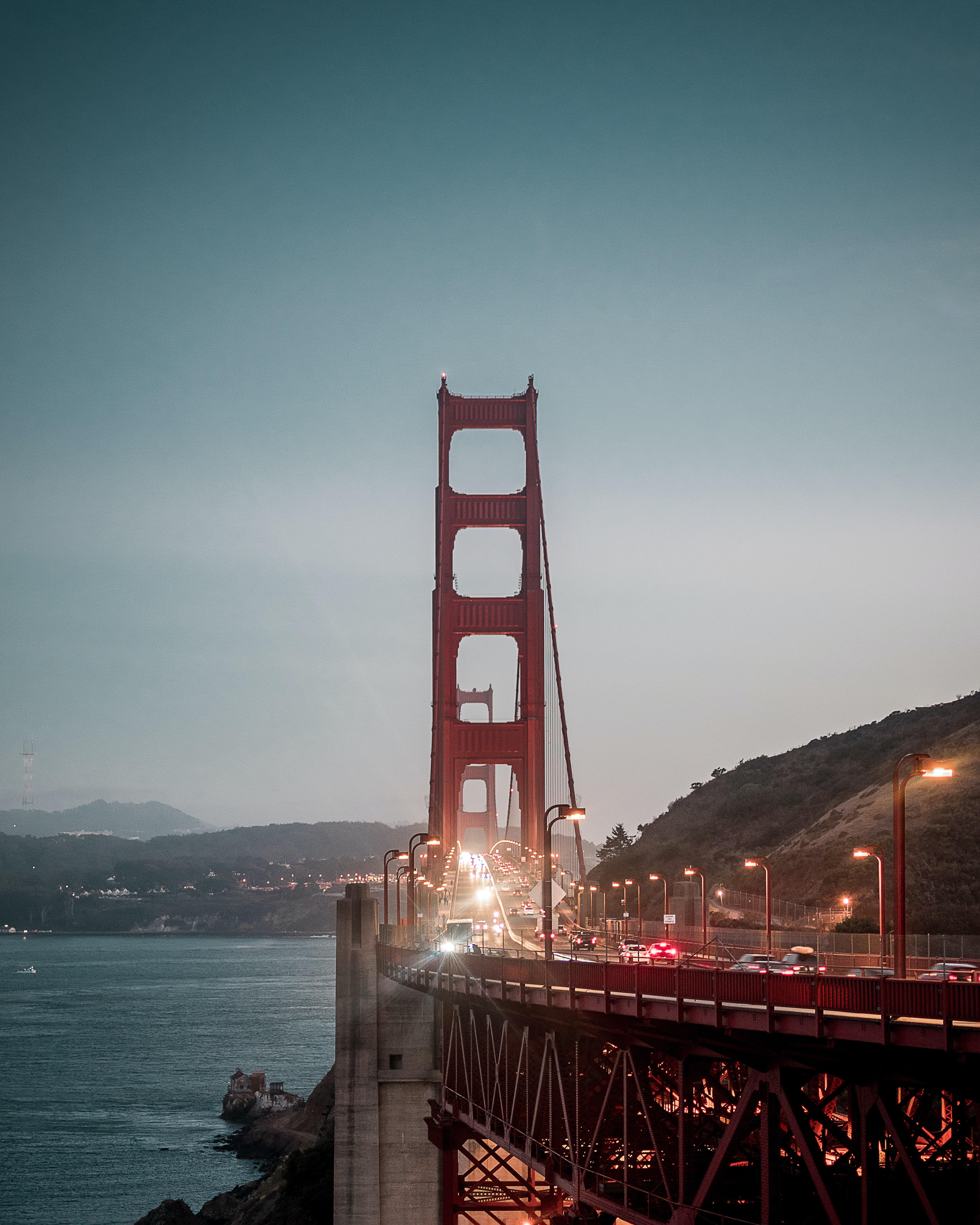 vehicles traveling on Golden Gate Bridge, San Francisco