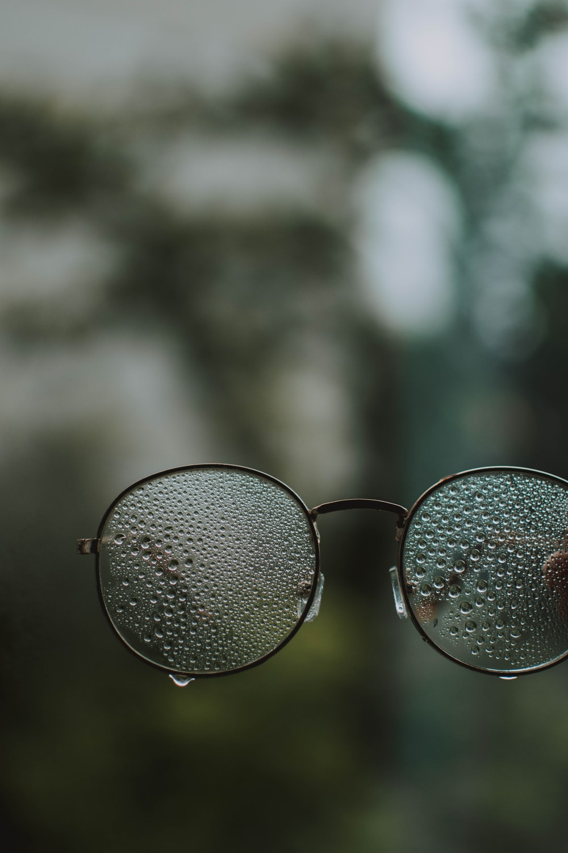 foggy eyeglasses