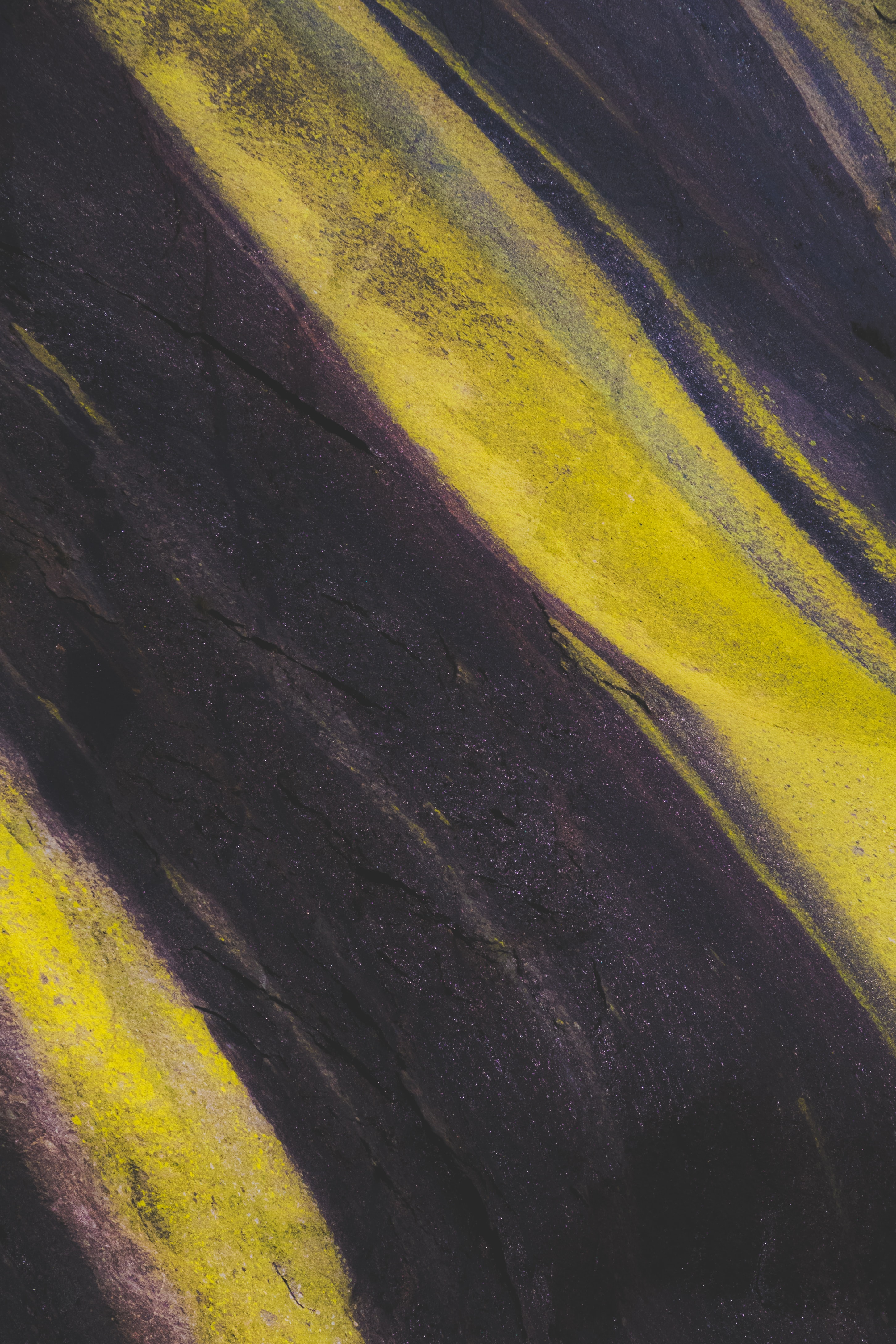 black and yellow surface
