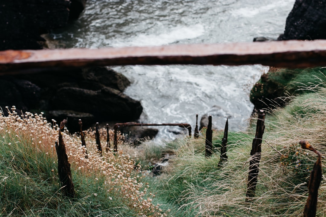 Clambering around the precarious cliffs in Dunmore East, one of Ireland's prettiest fishing villages, I came across this eerie set of cast iron railings from the industrial age. Built to guide intrepid walkers before the advent of more cautious health and safety guidelines. The railings now serve as a series of strange markers, inviting you into the dark Irish Sea.