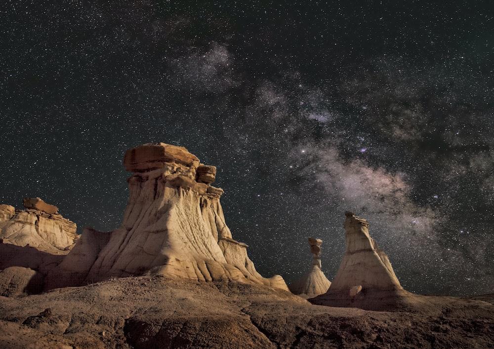 canyon beneath the stars