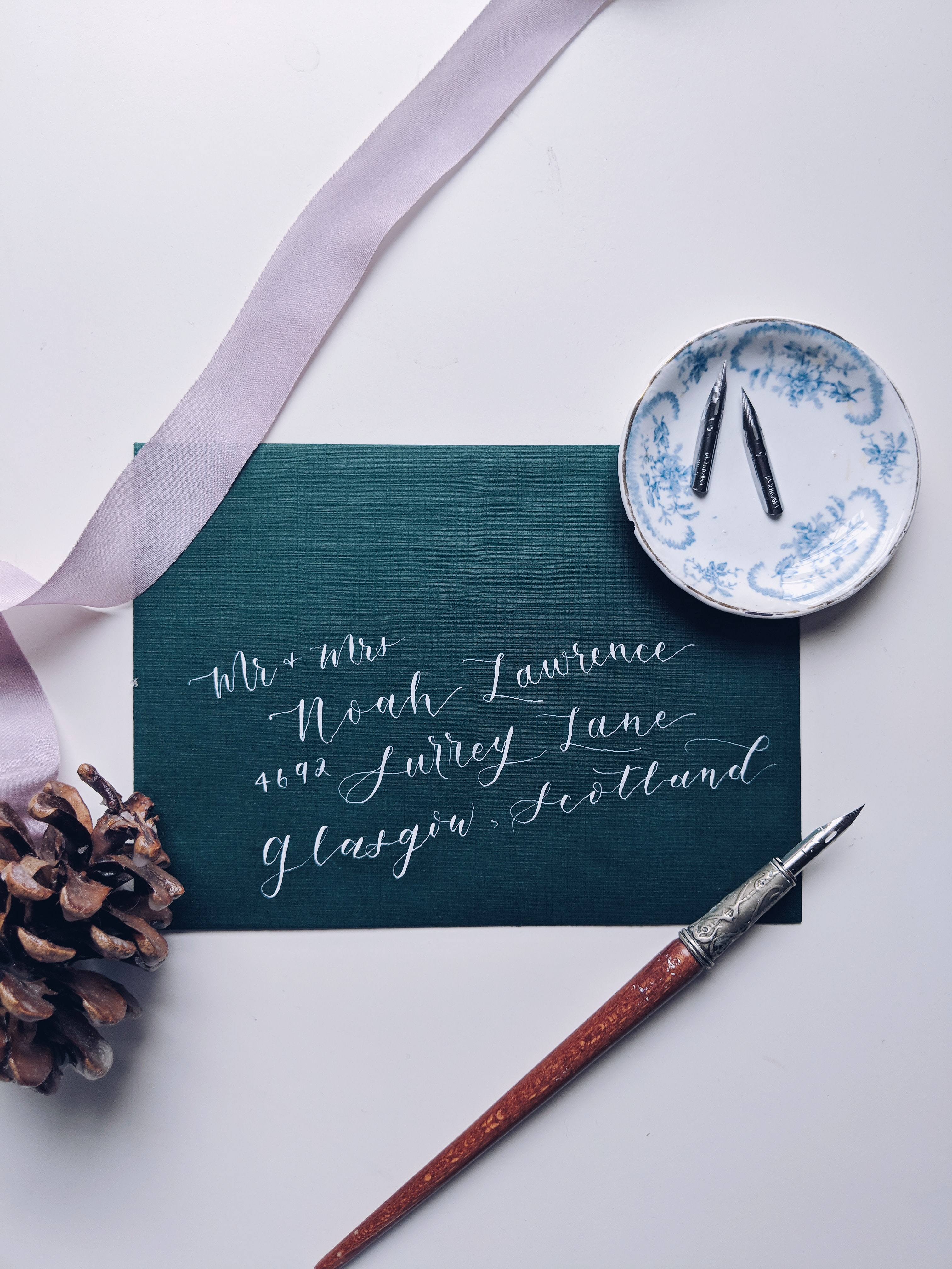 brown calligraphy pen
