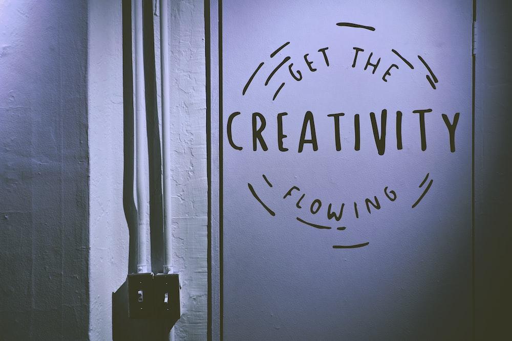 Creativity flowing advertisement