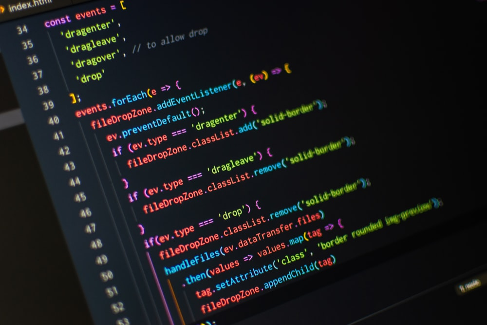 monitor displaying index.html codes