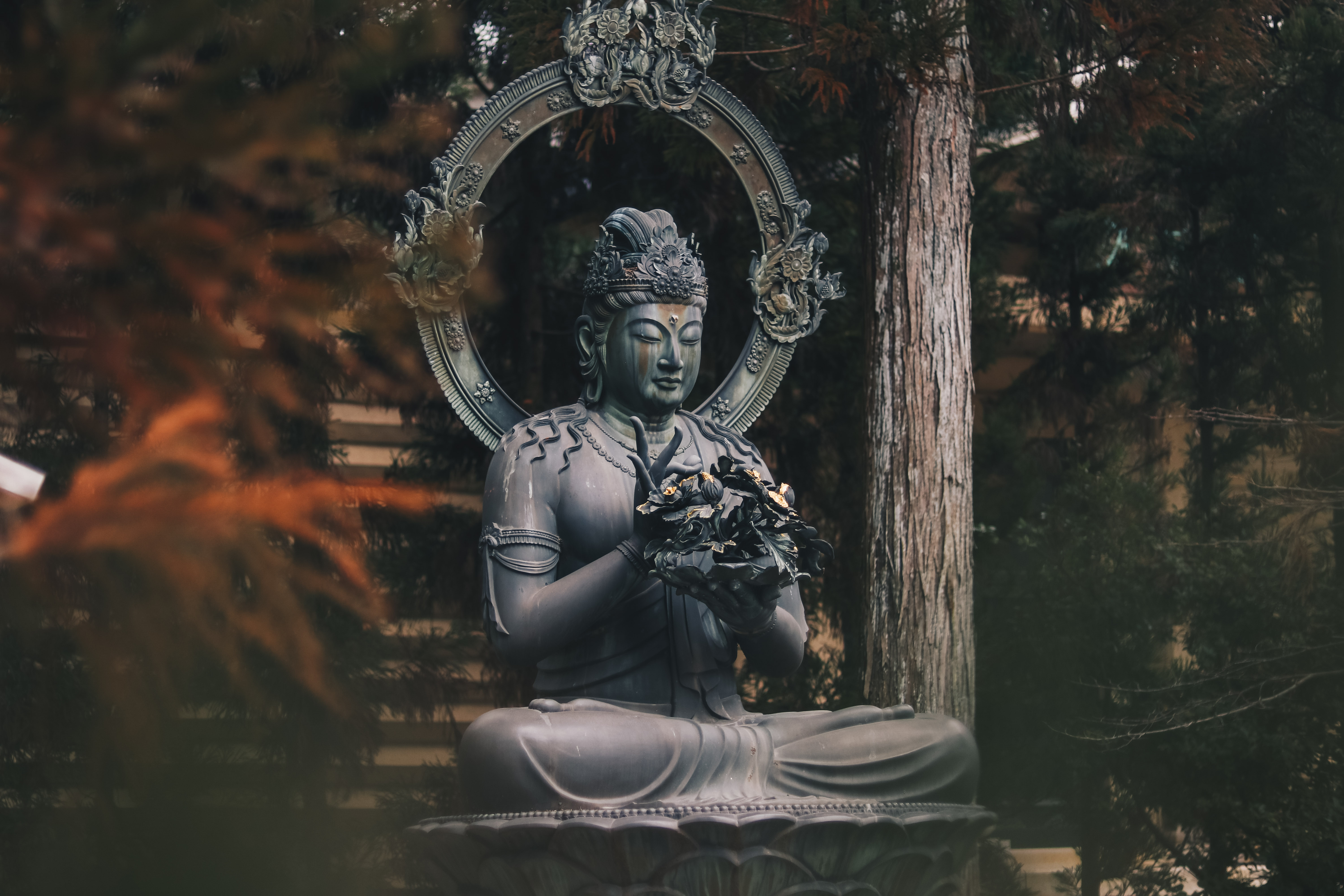 We got kicked out from this temple because it was already closed when we got there, but on our way to the exit we had a peaceful moment when we found this statue and some monks started chanting inside the building.