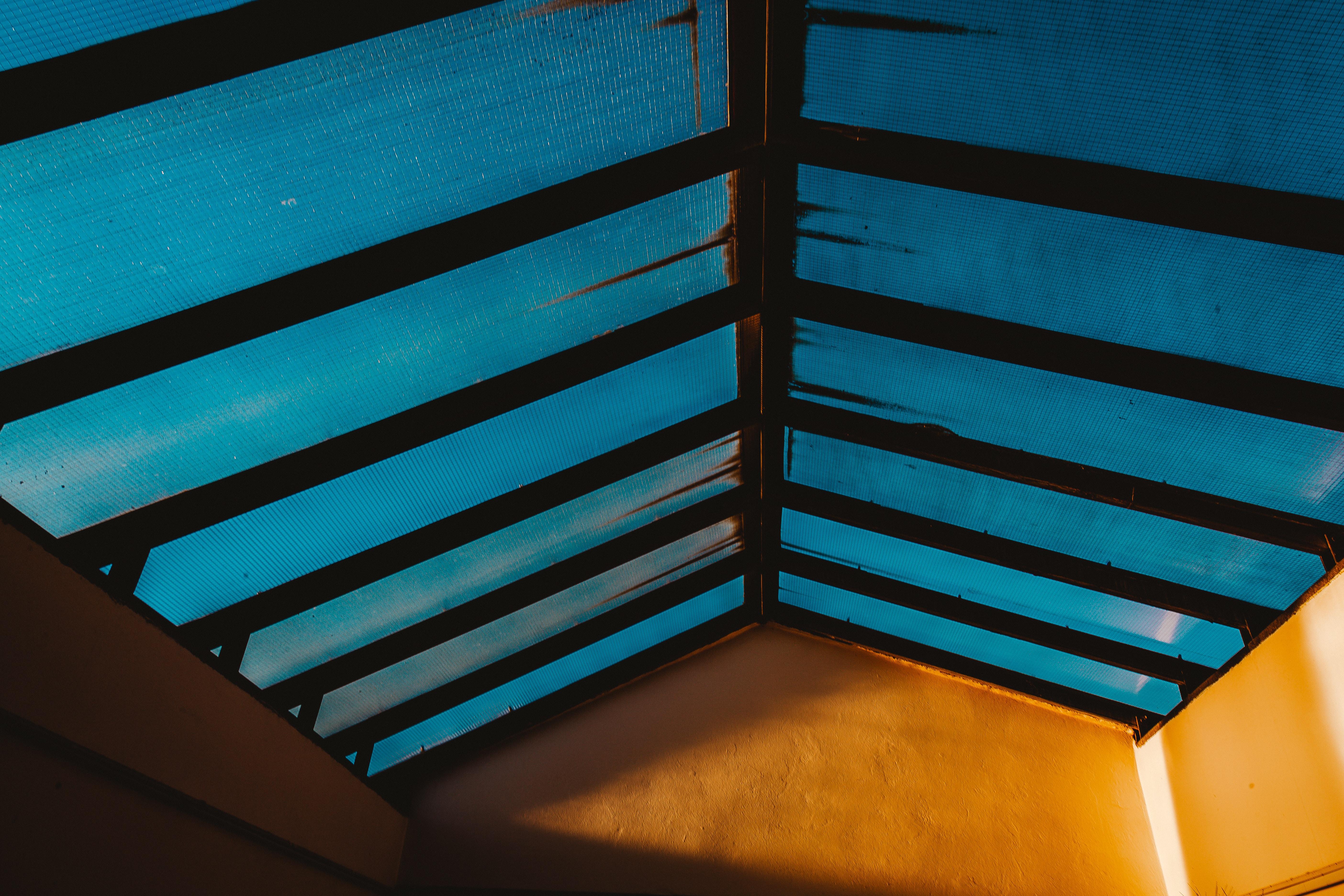 black wooden ceiling
