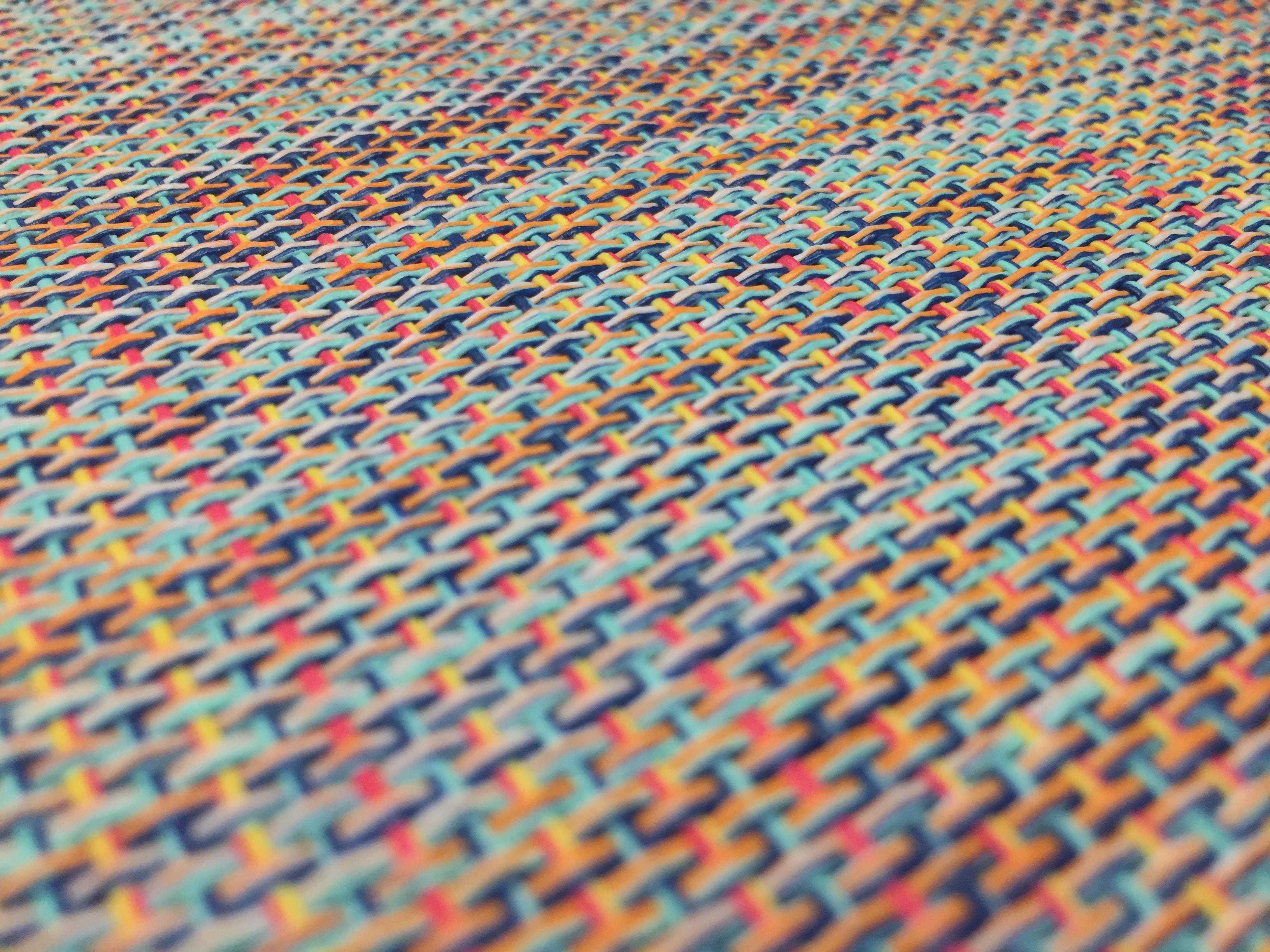 close-up photo of multicolored textile