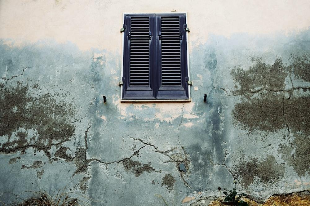 closed black window