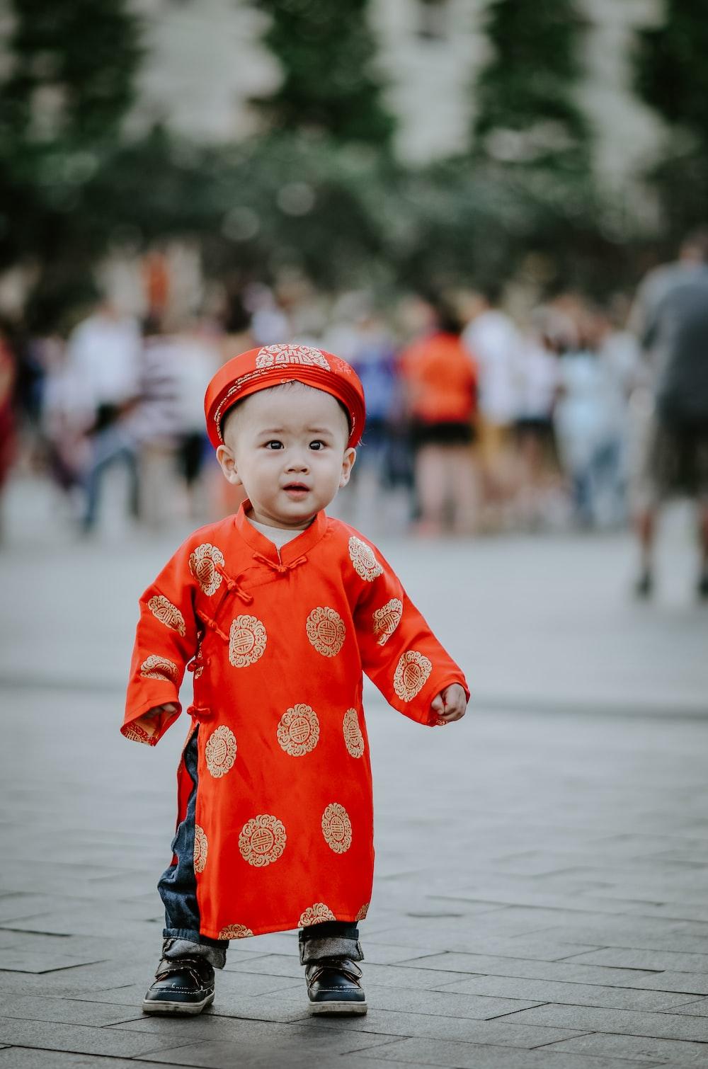 baby's orange dress