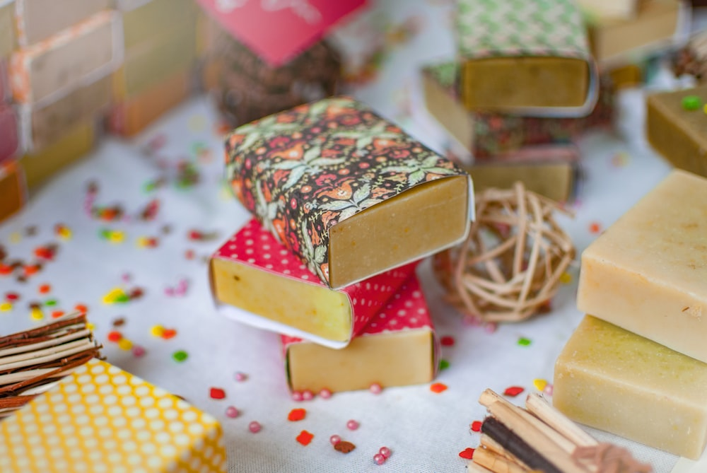 small assorted-color decorative boxes