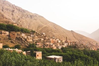 houses near hills