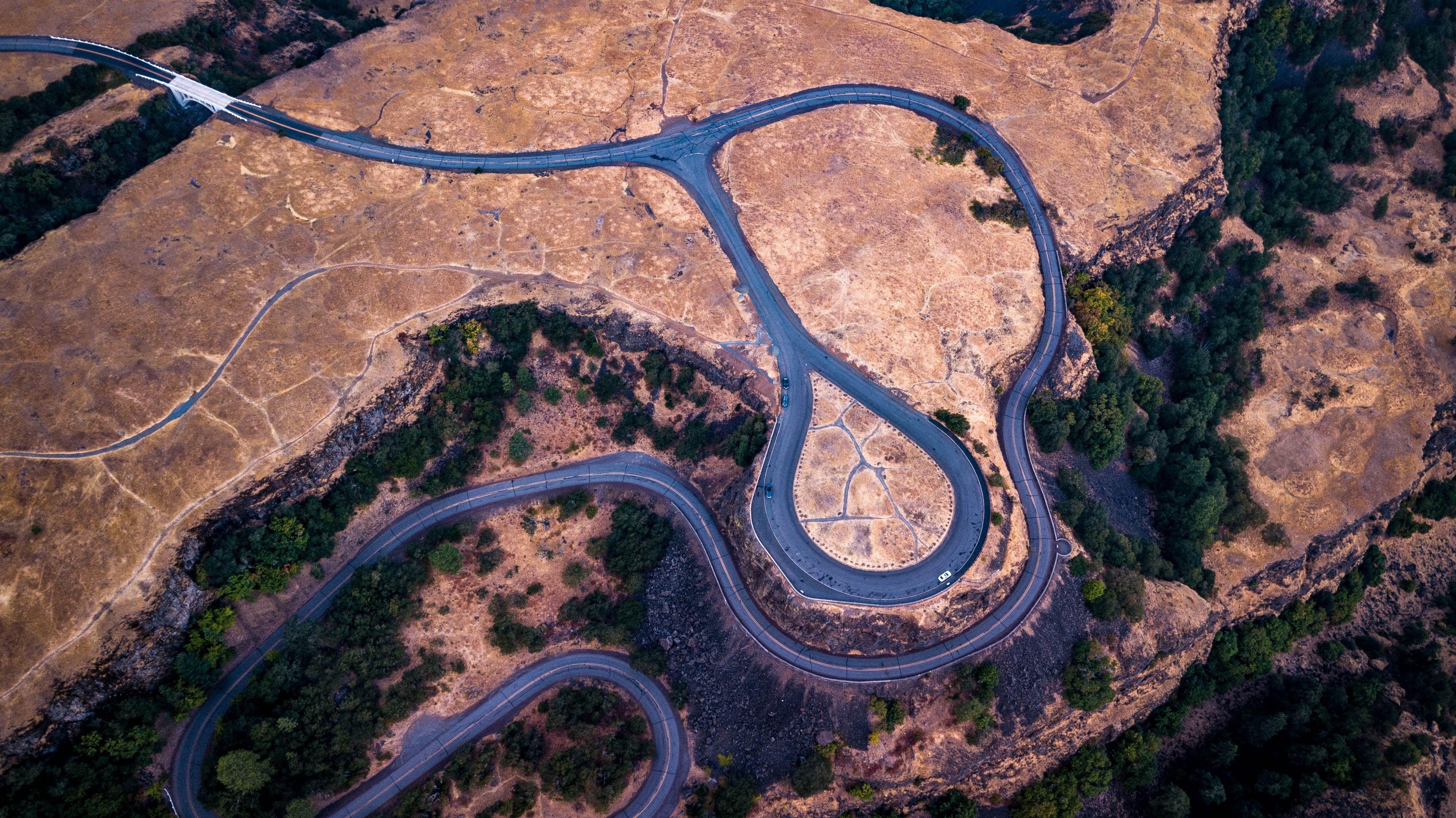 aerial photograph of road during daytime