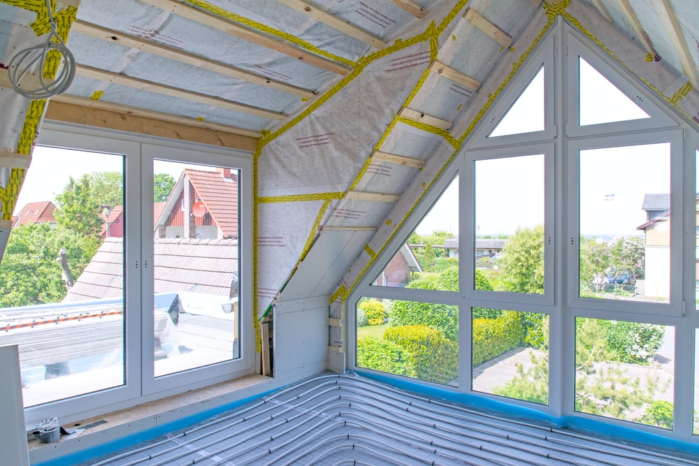 white painted attic