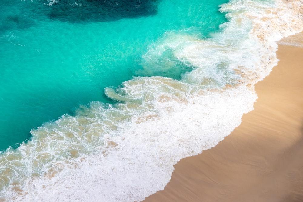 seashore during daytime aerial photo