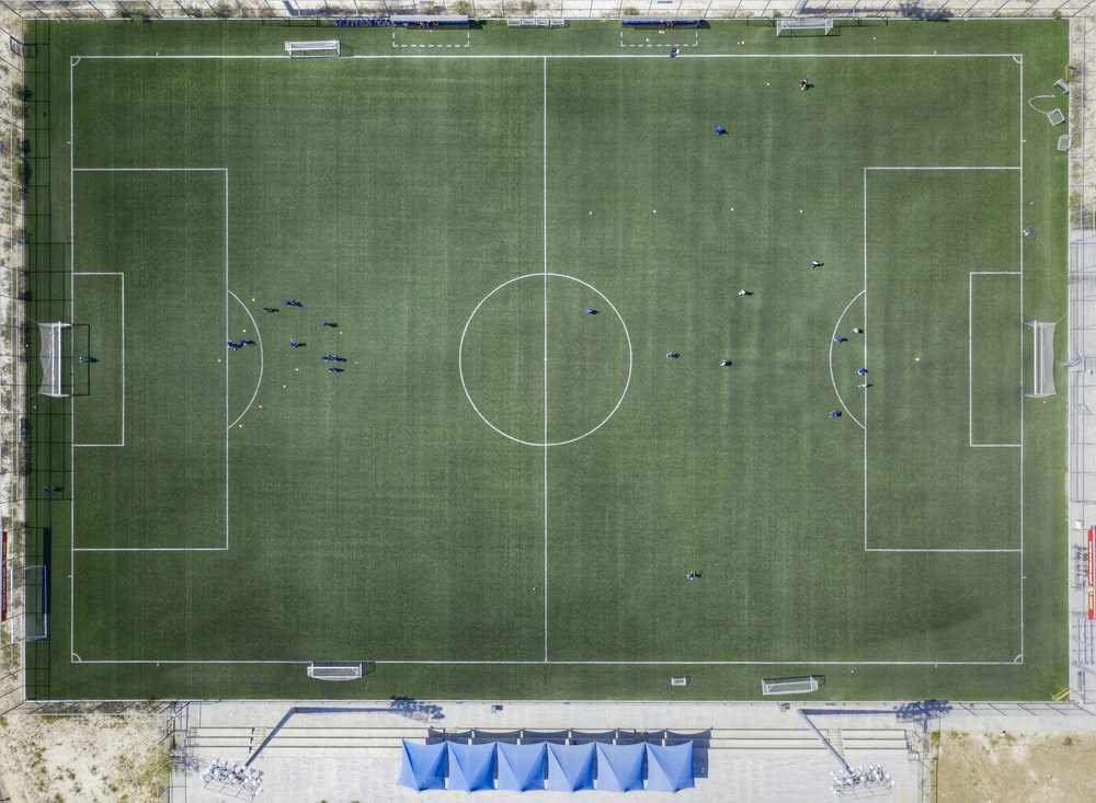 aerial view photo of sports field