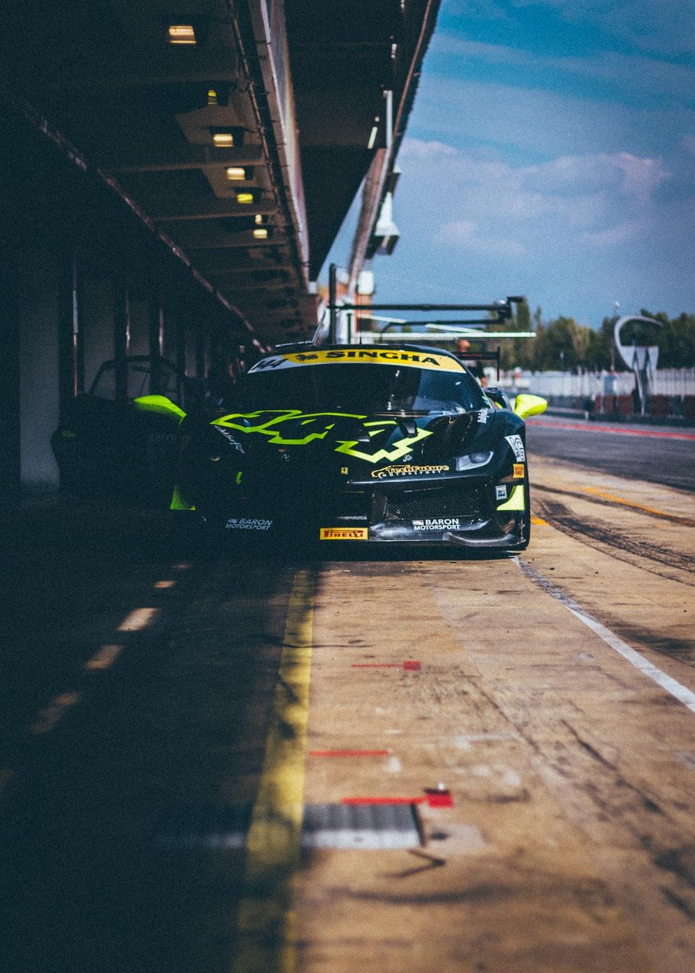 black and yellow vehicle