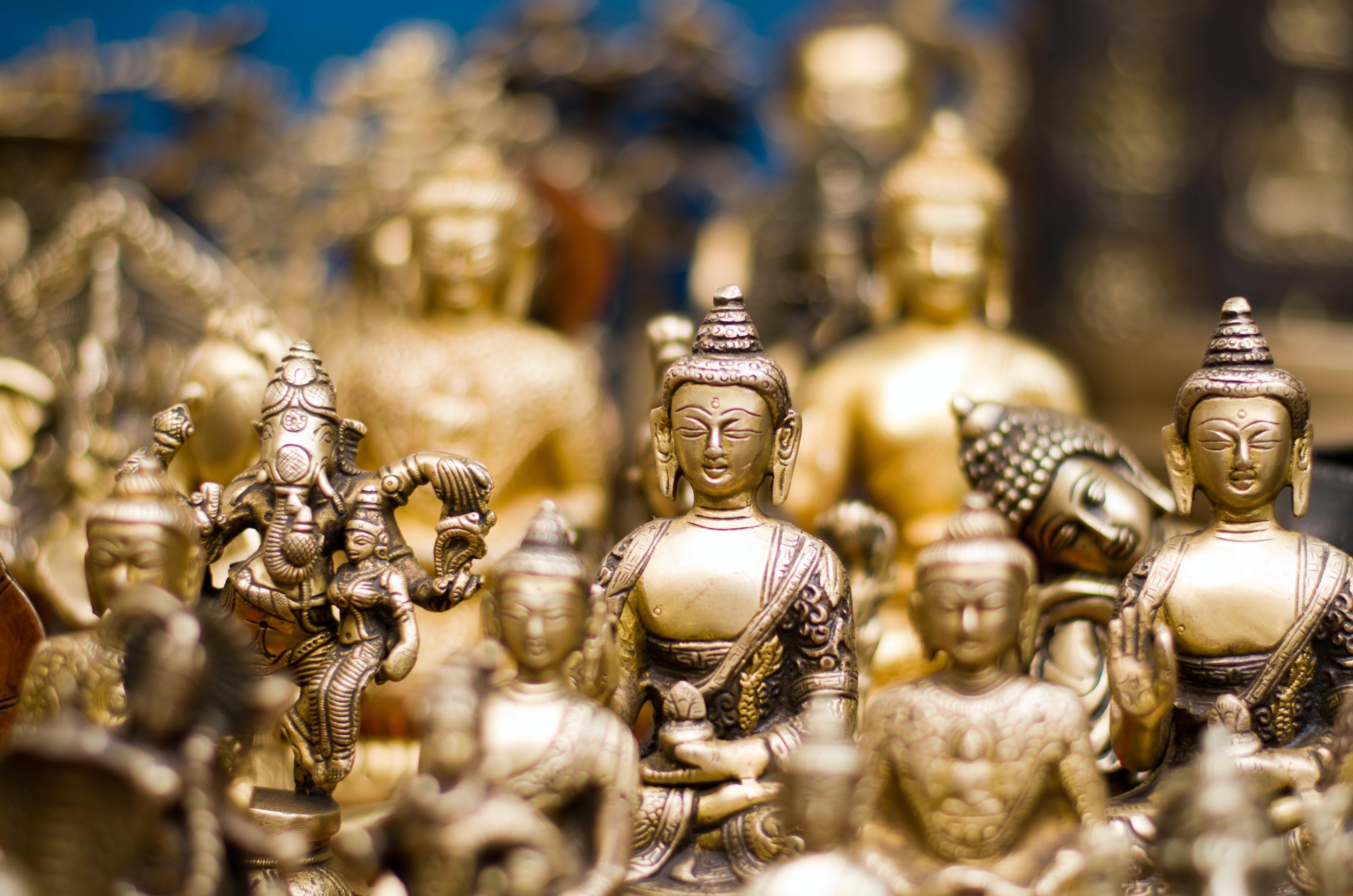 gold Gautama Buddha figurine lot