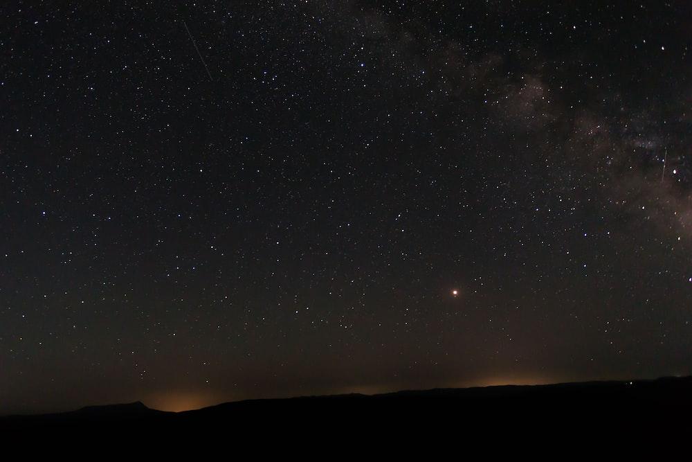lights under clear night sky