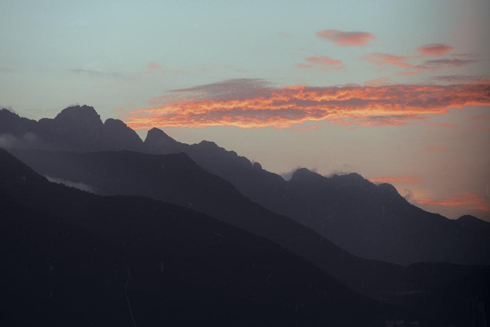 grey mountain during golden hour
