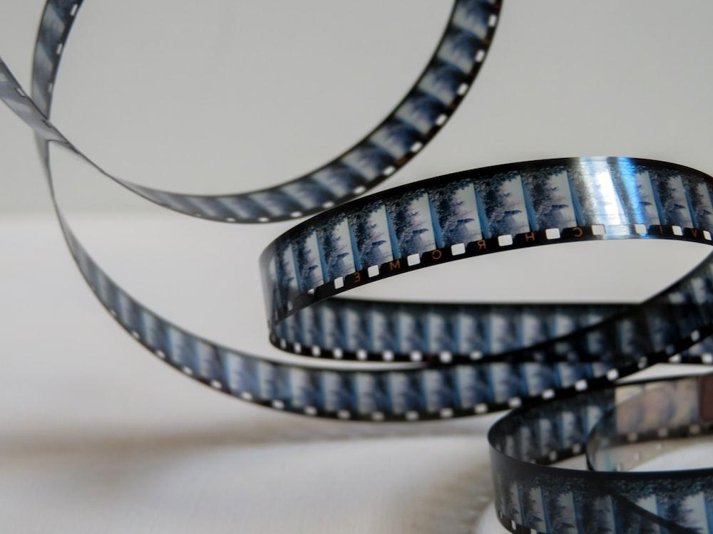 black and blue camera film