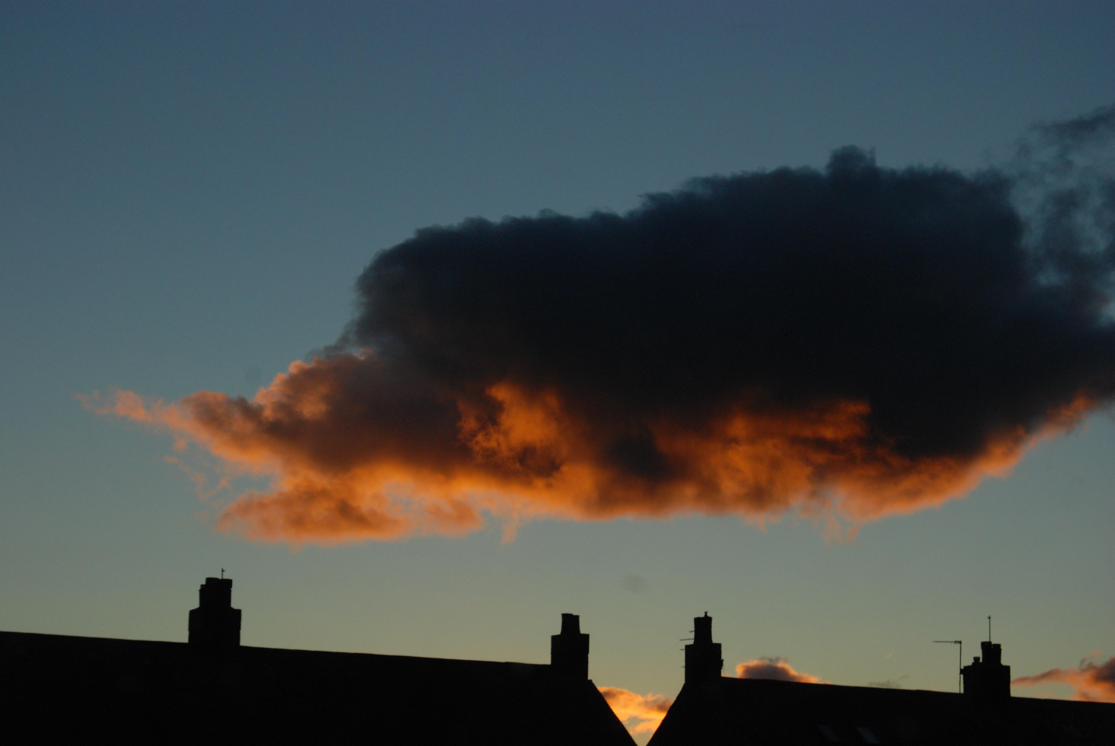 black clouds at daytime