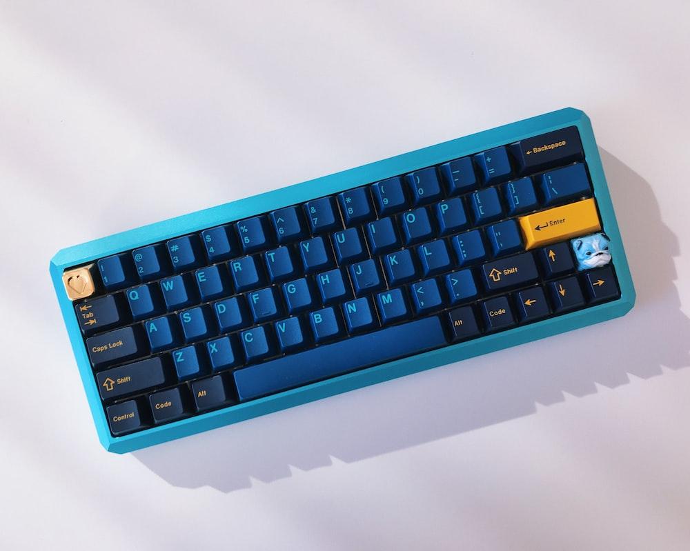 blue cordless keyboard