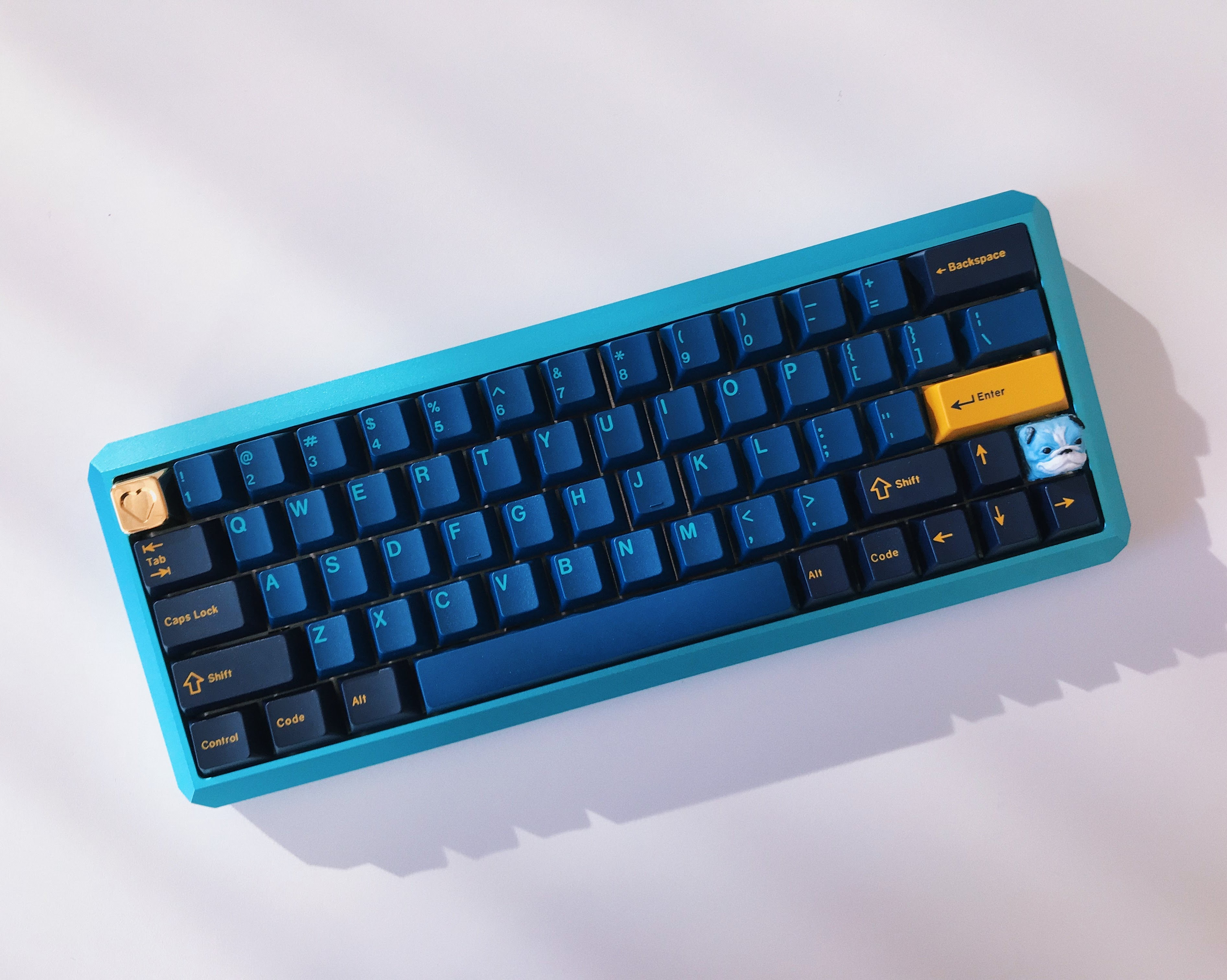 blue cordless keyboard