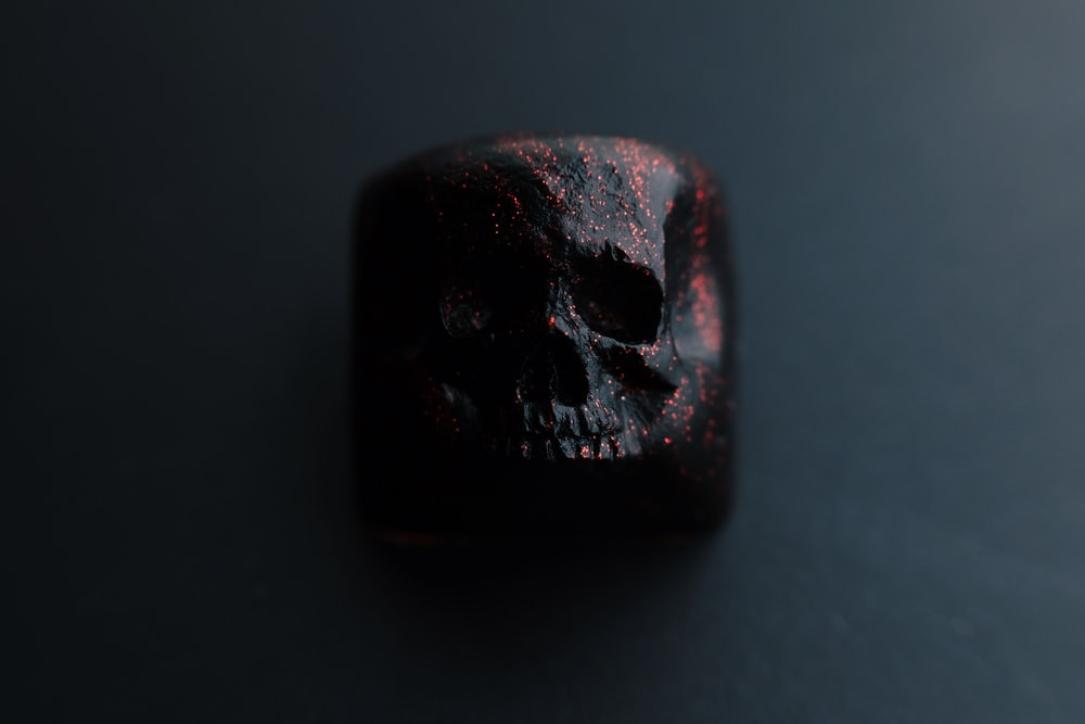 red and black stone