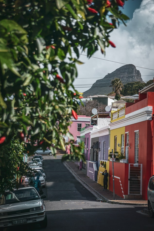 Colorful buildins at Bo Kaap